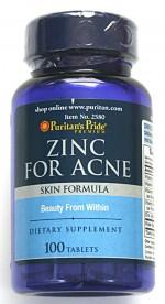 Viên bổ sung kẽm, ngừa mụn ZinC for Acne của Mỹ