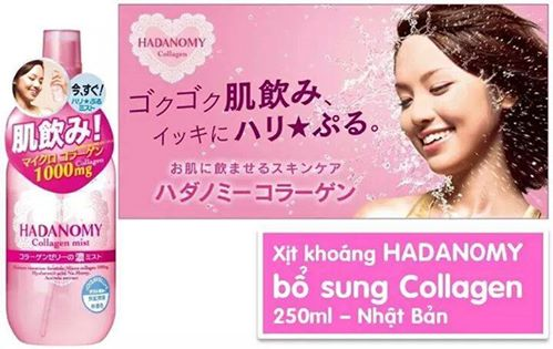 Image result for xịt khoáng collagen hadanomy