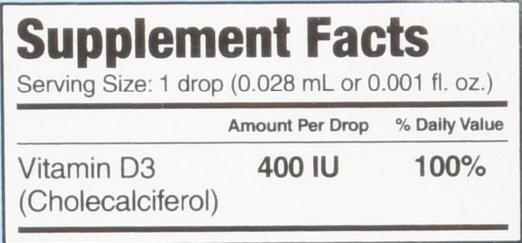 Thành phần có trong baby Drops vitamin D3 lọ 90 giọt