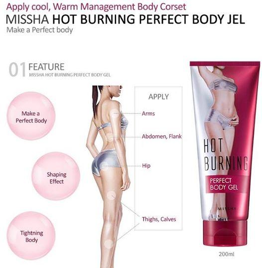 Kem Missha Hot Burning Perfect Body Gel Hàn Quốc