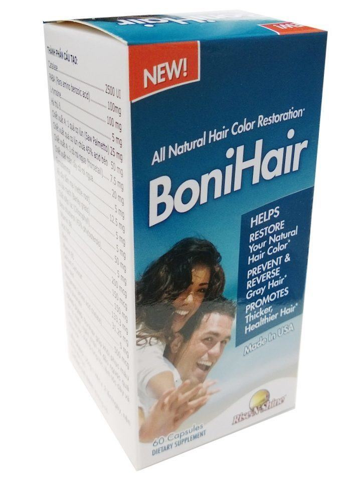 Viên Uống BoniHair - Hỗ Trợ Mọc Tóc, Cải Thiện Bạc Tóc