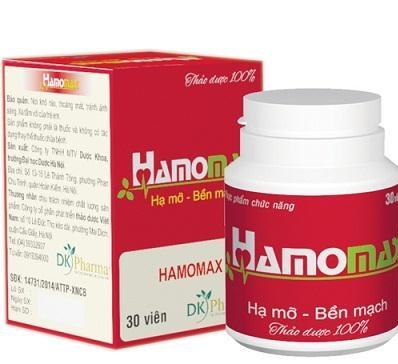 Hamomax - Hỗ Trợ Giảm Mỡ Máu, Bền Thành Mạch Hộp 30 Viên