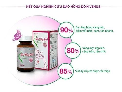 Đào Hồng Đơn Venus Viên Uống Tăng Kích Thước Vòng 1 60 Viên