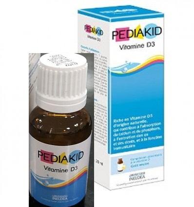 Pediakid Vitamin D3 Cho Bé (hàng Nội Địa Pháp, 20ml)