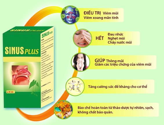 Sinus Plus - Hỗ Trợ Điều Trị Viêm Xoang, Viêm Mũi Dị Ứng