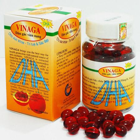 Viên nang dầu gấc VINAGA-DHA: công dụng và nguồn gốc tự nhiên
