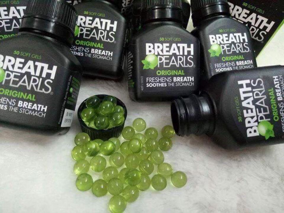 Viên uống Breath pearls chiết xuất từ tinh dầu bạc hà và tinh dầu hạt cây mùi cho hơi thở thơm mát