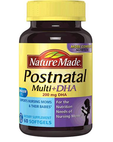 Nature Made Postnatal Multi DHA: Bổ Sung Dinh Dưỡng Cho Phụ Nữ Cho Con Bú