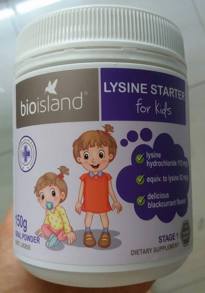 Bio Island Lysine Starter Cho Trẻ Dưới 6 Tuổi Của Úc