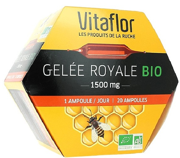 Sữa Ong Chúa Vitaflor Bio 1500mg 20 Ống Của Pháp