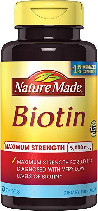 Viên Uống Chống Rụng Tóc Nature Made Biotin 5000mcg