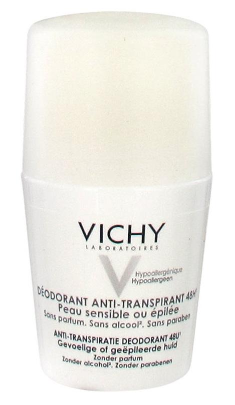 Lăn khử mùi Vichy màu trắng dành cho da ai cạo lông nách bị xước hoặc mụn ở nách