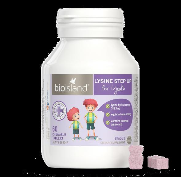 Bio Island Lysine - Viên Uống Cho Trẻ Từ 6 Tuổi Trở Lên Của Úc