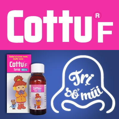 Thuốc trị sổ mũi Cottu-F - Trợ thủ đắc lực của bố mẹ.