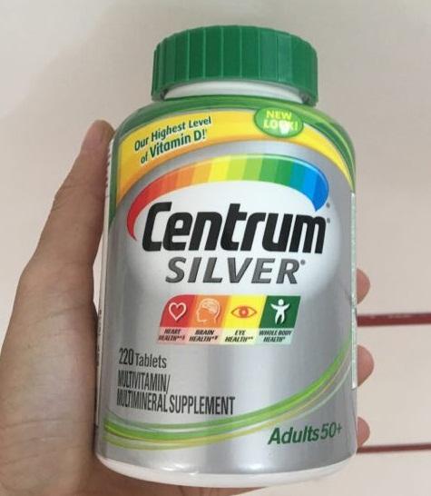 Vitamin tổng hợp centrum silver adults 50+ mẫu mới nhất