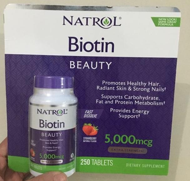Viên Uống Hỗ Trợ Mọc Tóc Biotin 5000 Mcg (250 Viên)