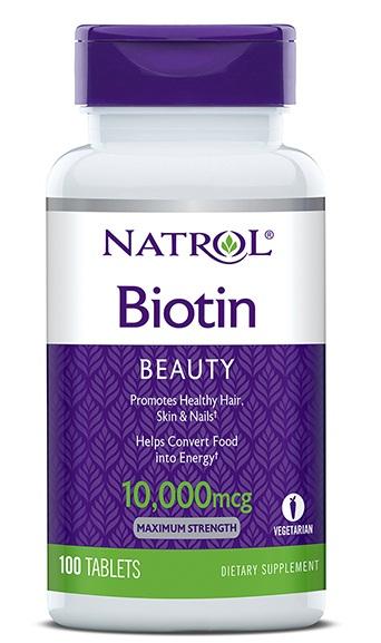 Natrol Biotin 10000 Mcg Viên Uống Đep Da, Tóc Và Móng