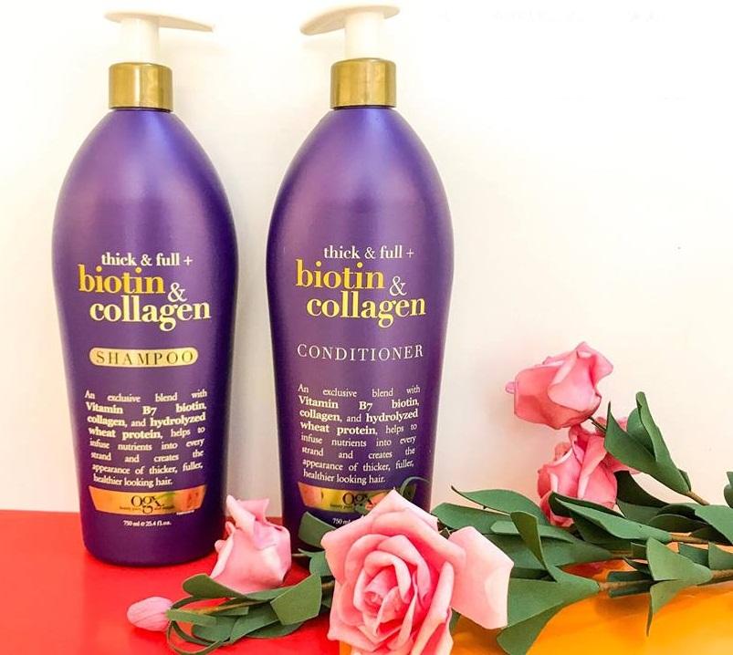 Dầu Gội Kích Thích Mọc Tóc Biotin & Collagen 385ml Của Mỹ