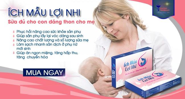 Viên Uống Lợi Sữa Ích Mẫu Lợi Nhi