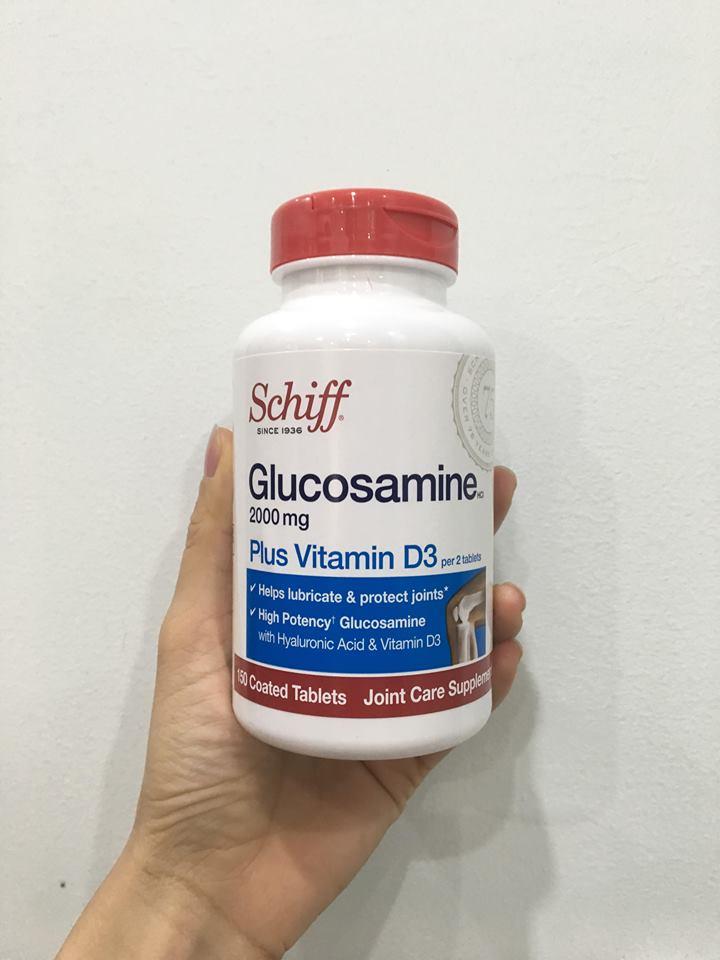 Viên Uống Schiff Glucosamine 2000mg Plus Vitamin D3 Của Mỹ