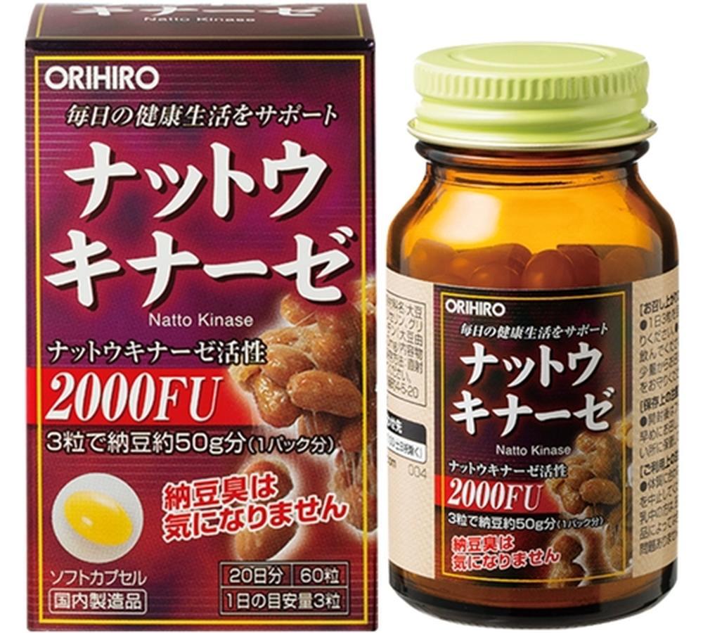 Viên Uống Nattokinase 2000FU Orihiro Của Nhật