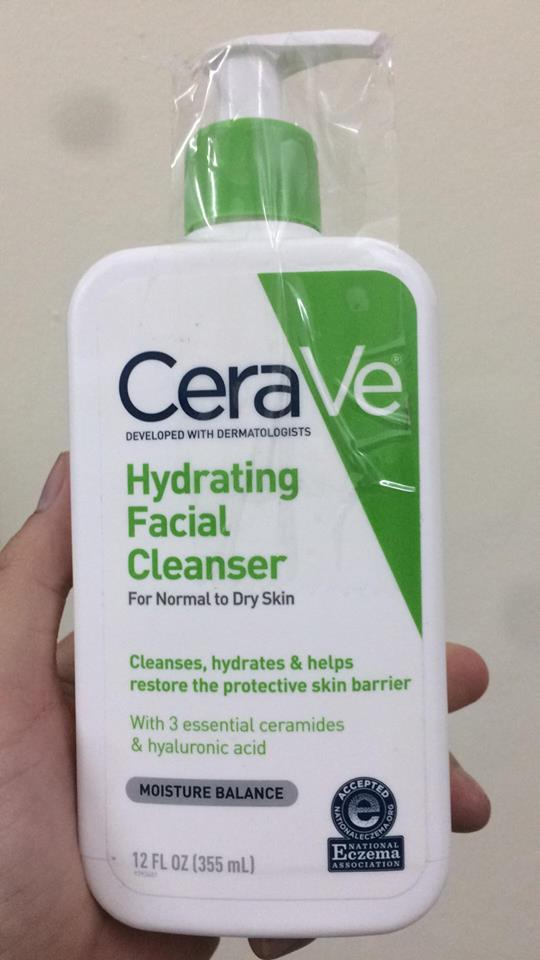 Sữa rửa mặt CeraVe Hydrating Cleanser 355ml 1