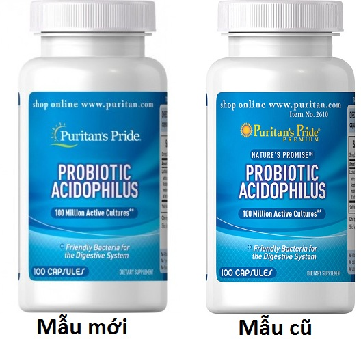 Men vi sinh Probiotic Acidophilus Puritan's Pride 1
