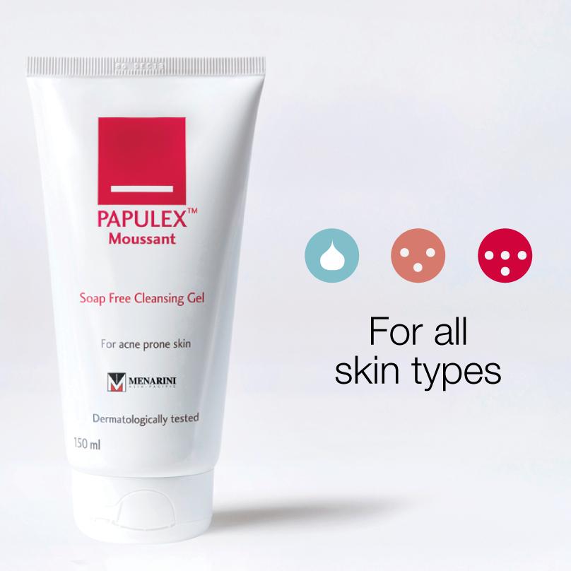 Sữa rửa mặt trị mụn Papulex với công thức nhẹ dịu hỗ trợ cải thiện làn da chỉ sau thời gian ngắn sử dụng