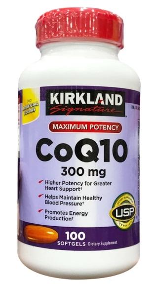 Viên Uống CoQ10 300mg Kirkland Lọ 100 Viên Của Mỹ