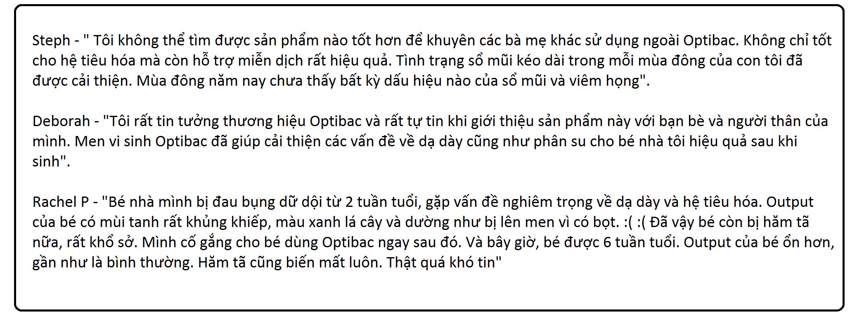 Men Vi Sinh Optibac Hồng Cho Bà Bầu, Trẻ Sơ Sinh