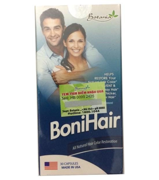 Viên uống BoniHair chiết xuất từ thiên nhiên kích thích mọc tóc, cải thiện tóc bạc sớm