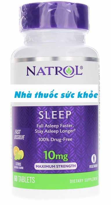 Viên Uống Natrol 10mg Hỗ Trợ Cải Thiện Giấc Ngủ