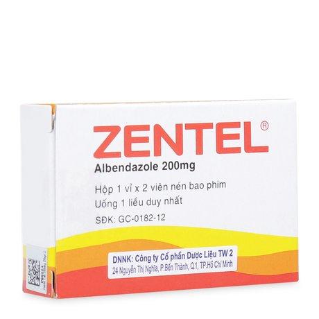 Thuốc Tẩy Giun Sán Zentel 200mg ( 2 Viên/ Hộp)