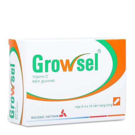 Thuốc Bổ Sung Vitamin C Và Kẽm Growsel (3 Vỉ X 10 Viên)