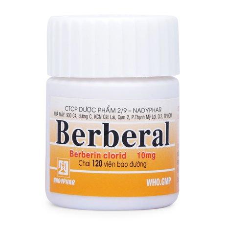 Thuốc Trị Tiêu Chảy Berberal(Chai 120 Viên) Xuất Xứ Việt Nam