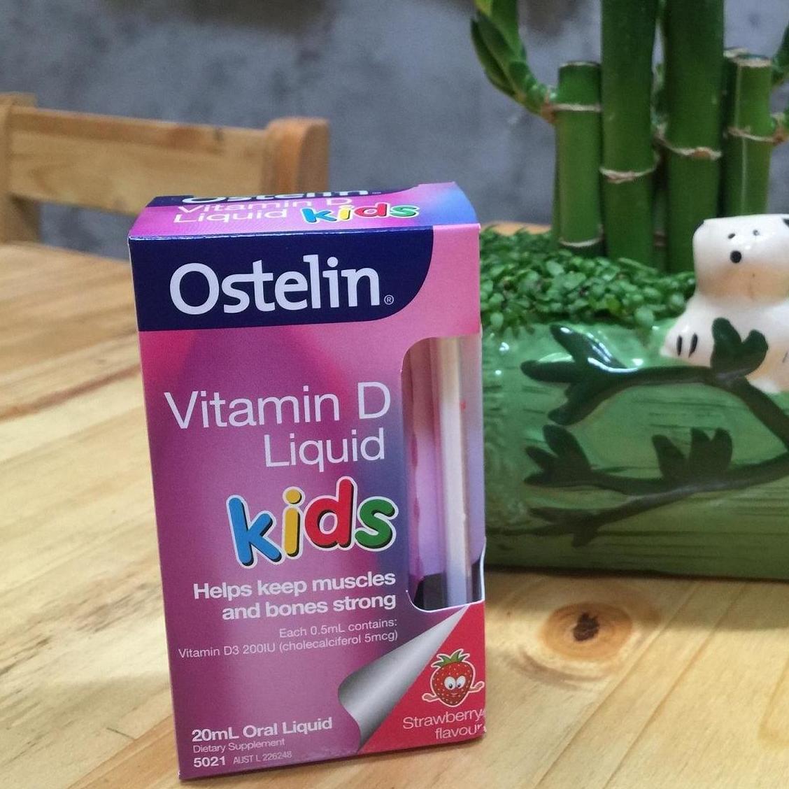 Vitamin D Ostelin Dạng Nước 20ml Cho Bé 0-12 Tuổi