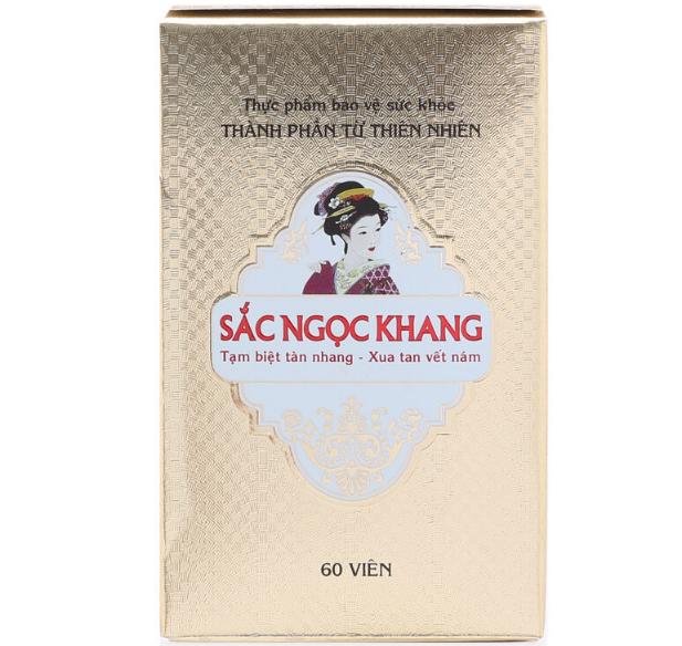Sắc Ngọc Khang – Viên Uống Hỗ Trợ Cải Thiện Nám, Tàn Nhang