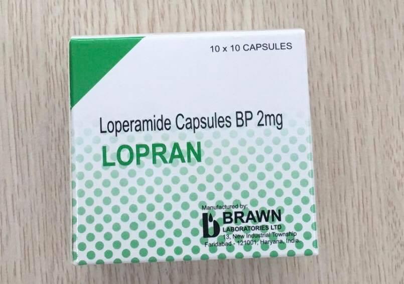Viên Nang Loperamide BP 2mg Lopran Vỉ 10 Viên