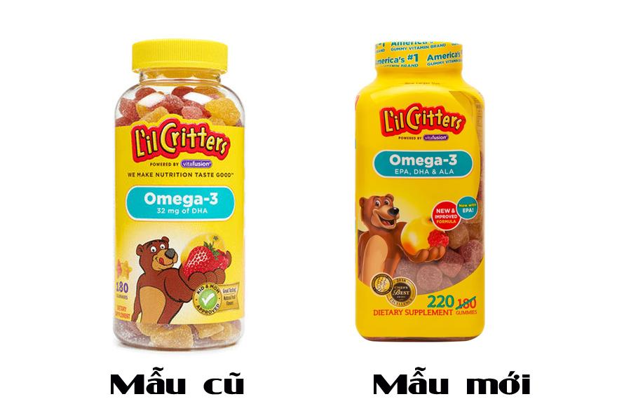 Kẹo Gấu L'il Critters Omega-3 Của Mỹ Bổ Sung DHA Cho Bé