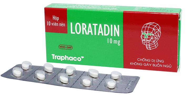Thuốc Chống Dị Ứng Loratadin 10mg Traphaco Hộp 10 Viên Nén