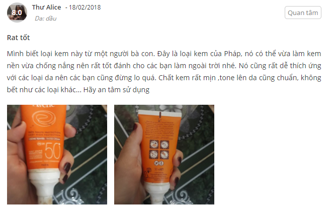 [Review] Chi Tiết Kem Chống Nắng Avene Very High Protection SPF50+