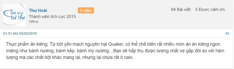 Bột Yến Mạch Quaker Có Tốt Không? Chuyên Gia & Người Dùng Họ Nói Gì?