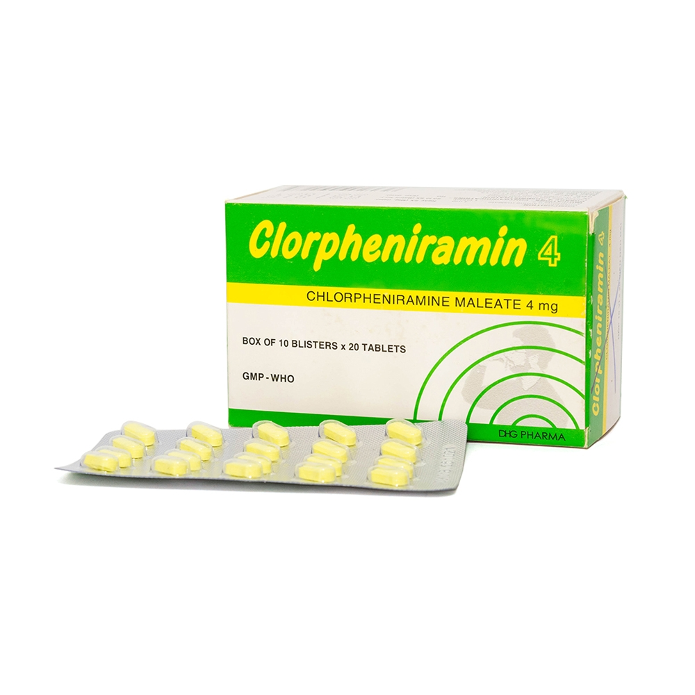 Clorpheniramin 4mg Là Thuốc Gì? Thành Phần, Công Dụng, Cách Dùng?