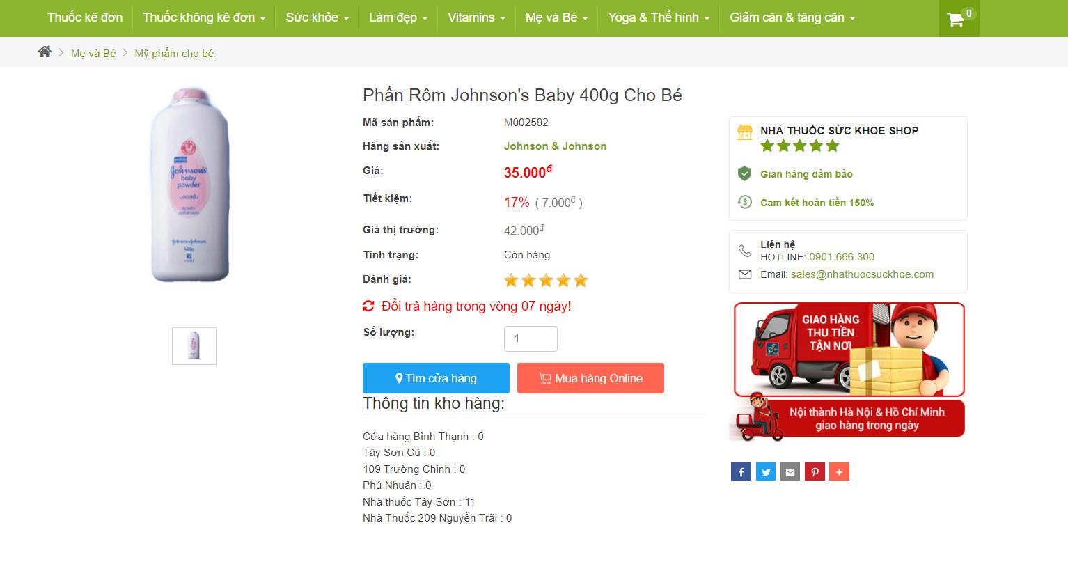 Phấn Rôm Johnson's Baby & Những Lưu Ý Trước Khi Sử Dụng Cần Thuộc Lòng