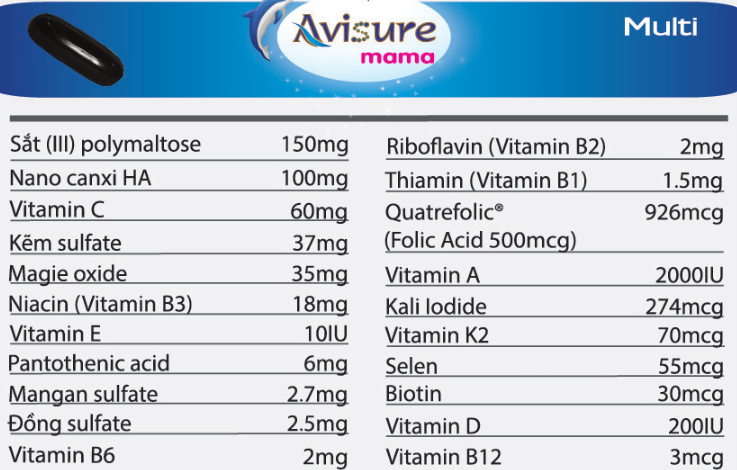 Vitamin Tổng Hợp Cho Bà Bầu Avisure Mama