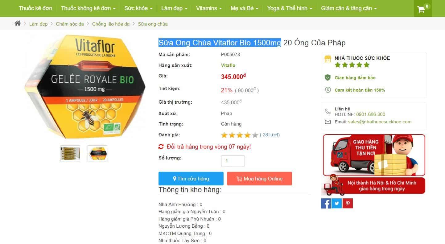 Hỏi/Đáp: Sữa Ong Chúa Vitaflor Bio Có Tốt Không? Giá Bao Nhiêu? Nên Uống Vào Lúc Nào?