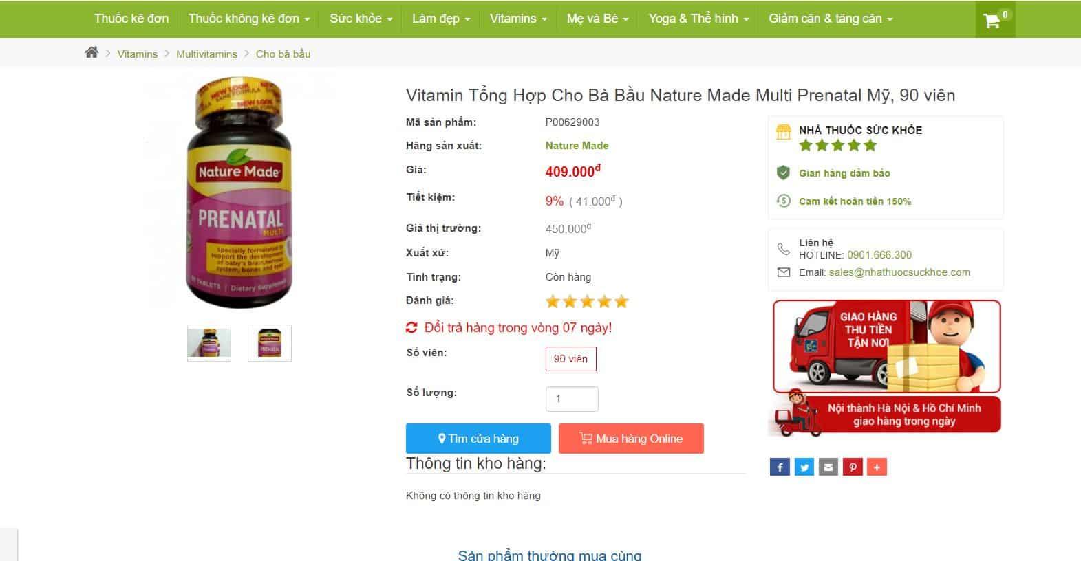 Vì Sao Mẹ Bầu Phải Bổ Sung Vitamin? Nên Dùng Vitamin Multi Prenatal Mỹ Không?