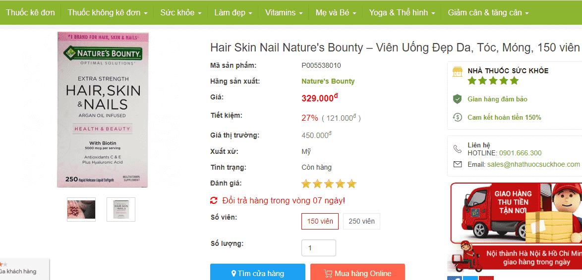 Hair Skin Nail Nature's Bounty Có Tốt Không? Review Cách Dùng A - Z