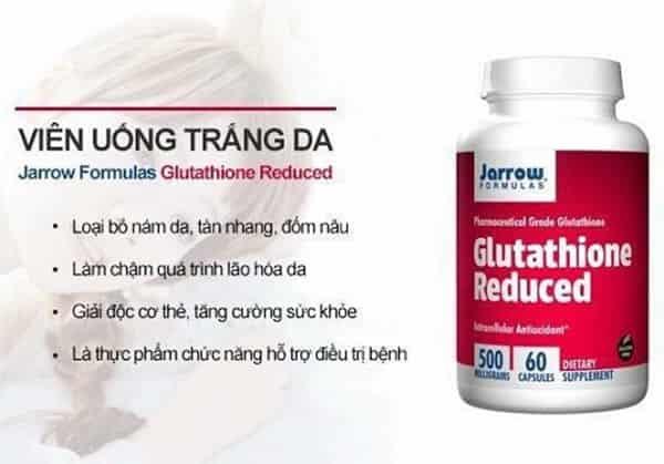 Viên Uống Trắng Da Jarrow Glutathione Có Tốt Không? Review, Công Dụng, Cách Dùng