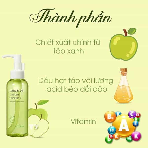 Review: Dầu Tẩy Trang Innisfree Apple Seed Cleansing Oil Có Tốt Không? Dùng Cho Da Gì?